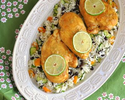 Honey Mustard Chicken, just five ingredients, simple, moist, good @ KitchenParade.com. Low Carb, High Protein, Weight Watchers PointsPlus 4.
