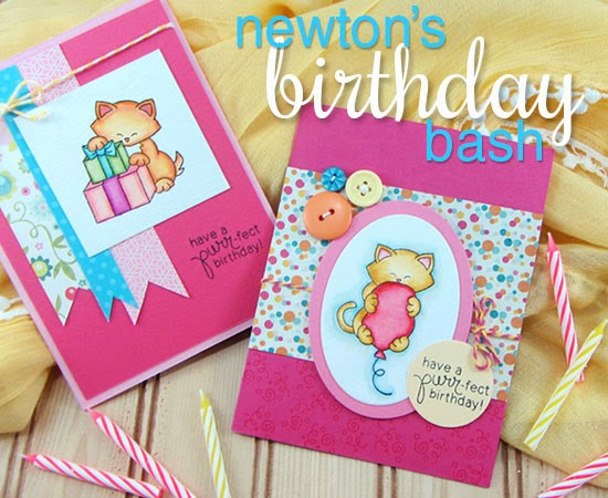 Newton's Birthday Bash stamp set by Newton's Nook Designs - Cat stamp set