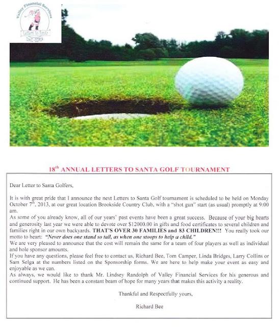 Gladiator school april 2013 18th annual letters to santa golf tournament spiritdancerdesigns Images