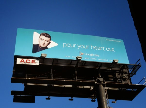 Google Play Sam Smith Pour your heart out billboard
