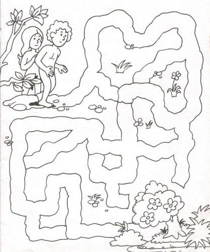 Materiales de religi n cat lica actividades con ad n y eva for Adan y eva en el jardin del eden para colorear