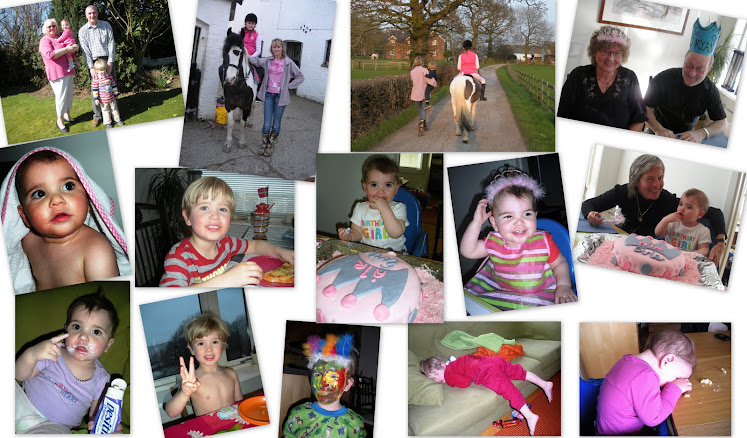 Evie's 1st b-day, England, sleeping kids, etc (April)