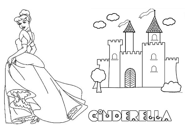 Cinderella step mom coloring page for Disney castle coloring pages