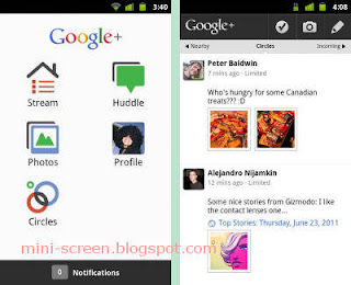 Google+ Social Network Android Free App Interface