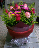 Round Packing Flower Bouquet