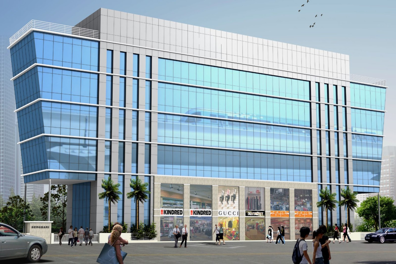 Commercial building 3d architecture visualizations for Design your own commercial building