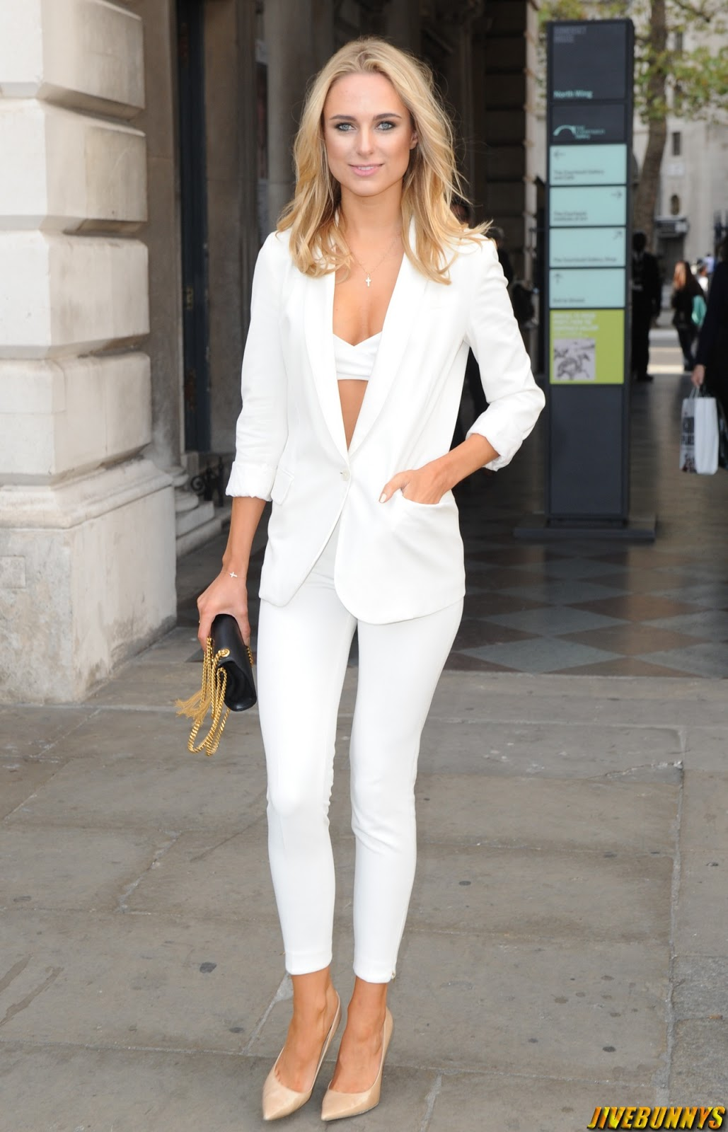 Kimberley Garner @ Somerset House for London Fashion Week - 14/09/2014