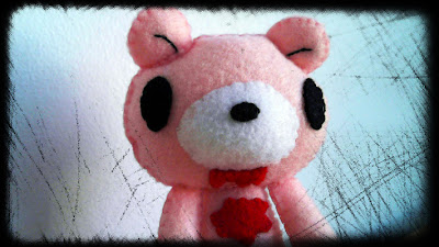 How to Make a Gloomy Bear Plushie from felt tutorial