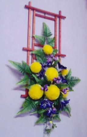 Gambar contoh hiasan dinding cantik motif bunga
