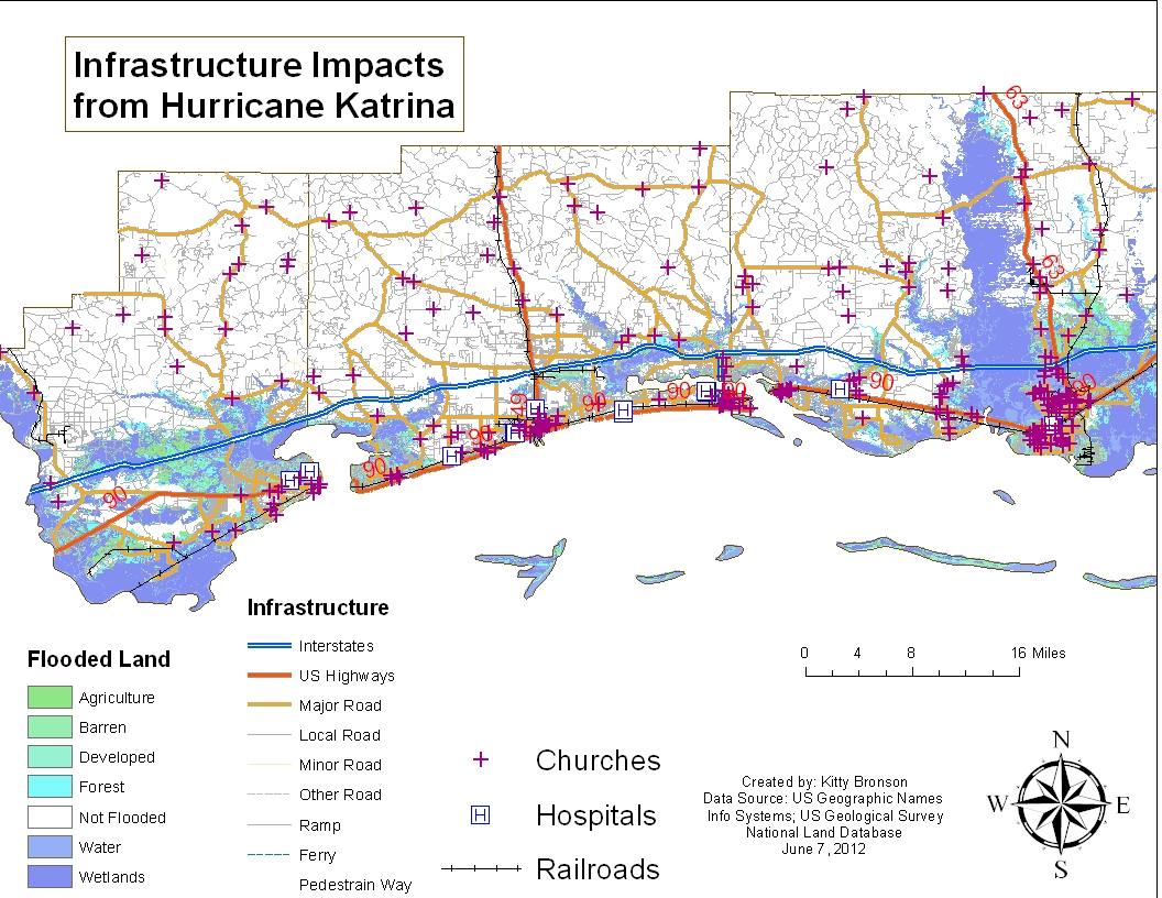 this map shows the infrastructure and health facilities at risk from storm surge