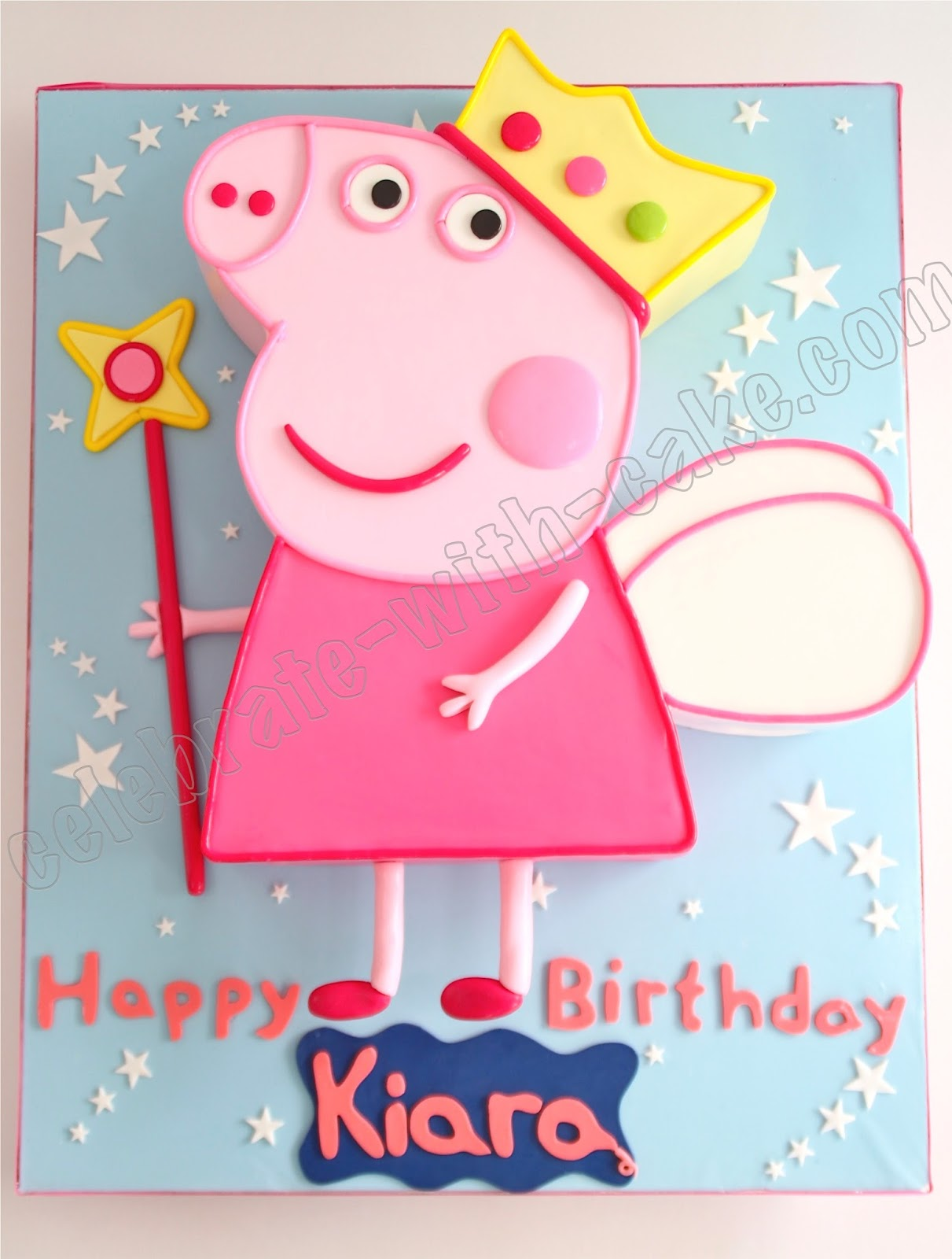 Peppa Pig Birthday Cake Singapore Fairy Princess Peppa Pig Cake