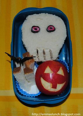 skull halloween bento