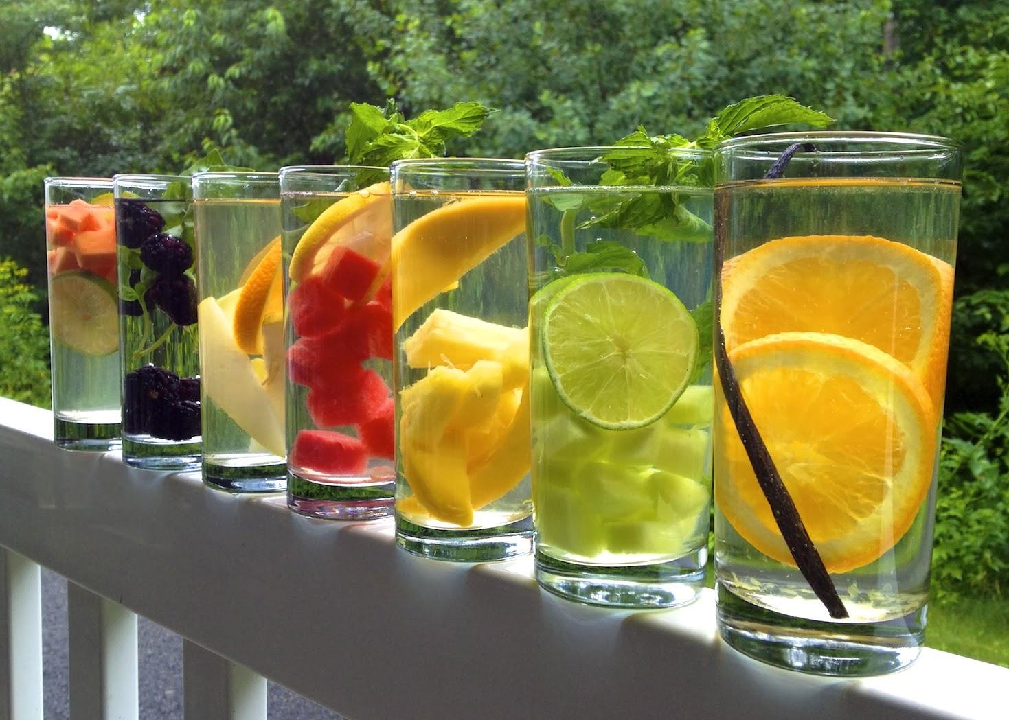 água saborizada para refrescar