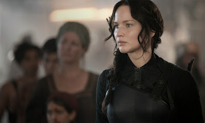 Jennifer Lawrence in The Hunger Games Mockingjay Part 1