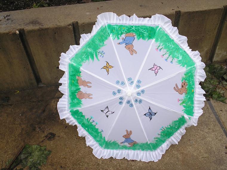 white bunny parasol