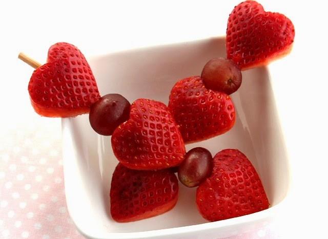 Frutillas con Forma de Corazon