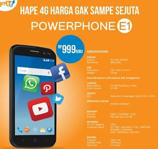 Harga Bolt PowerPhone E1 Terbaru Bulan Ini