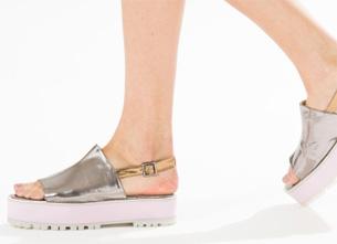 Farm acessórios de verão 2016 sandálias plataforma tratorada