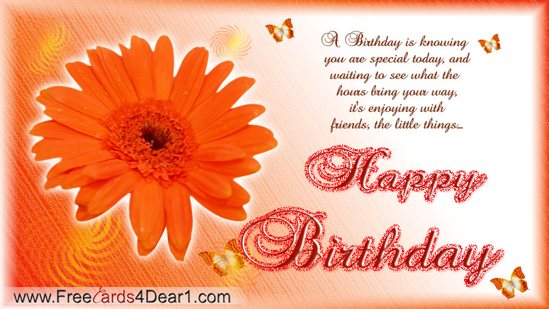 happy birthday greeting card for fb friend - Happy Birth Day ((¯°•     Arosa Hya,     •°¯))