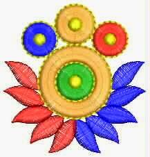 Kleurvolle Europese naaldwerk borduurwerk appliekwerk