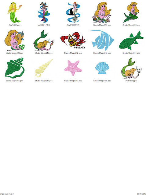 The little mermaid disney embroidery designs free