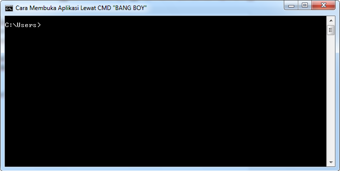 buka aplikasi dengan CMD