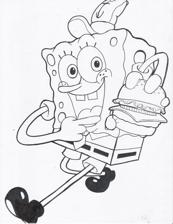 spongebob squarepants easter coloring pages - photo#19