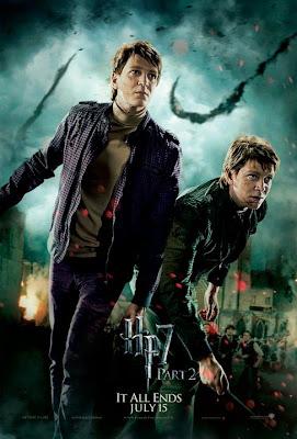 Harry Potter y las reliquias de la muerte. Parte 2. Poster Gemelos Weasley
