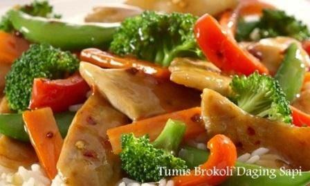 Resep Tumis Brokoli Daging Sapi Spesial
