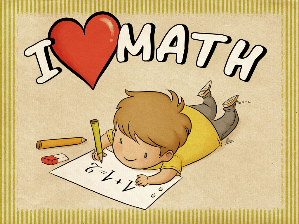 Math Games 4 Kids: [Free Download] I Love Math Wallpaper and Sheet