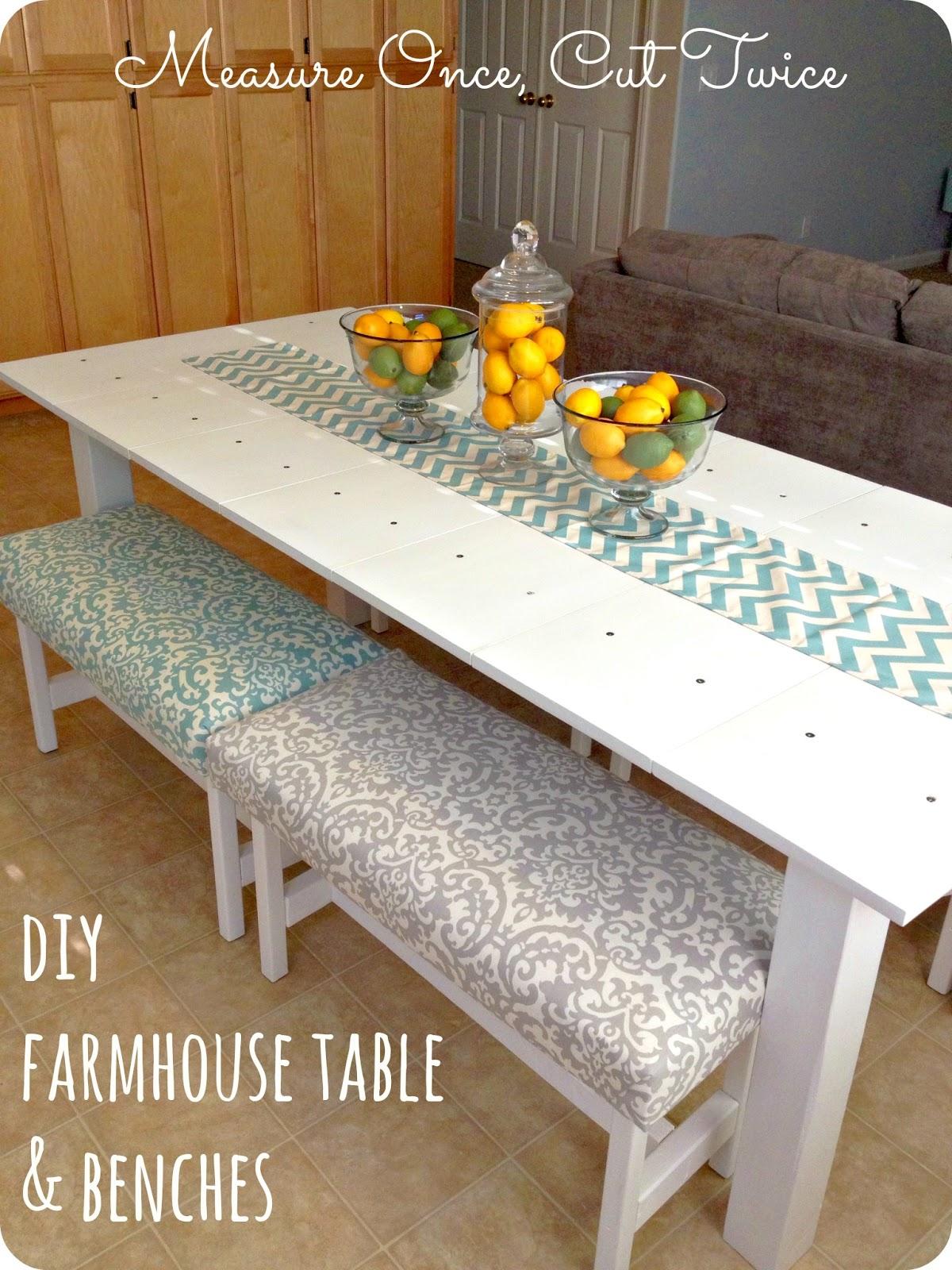 DIY Farmhouse Table & Benches