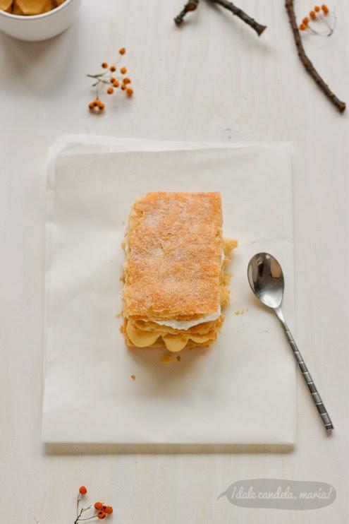 como hacer milhojas con hojaldre invertido
