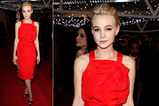 Фото макияжа под красное вечернее платье