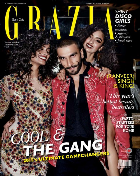 Ranveer Singh on Grazia India December 2015