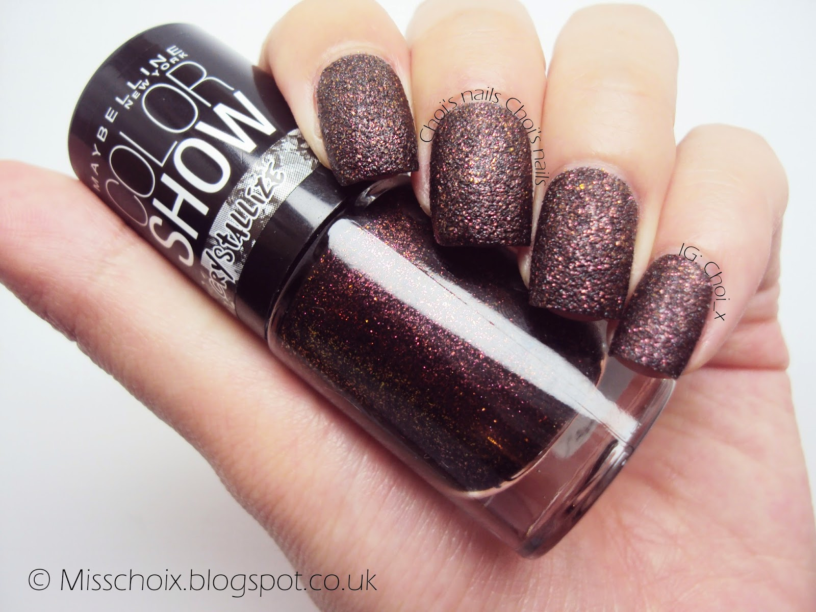 Maybelline color show crystallize in Red excess - Choi\'s nails