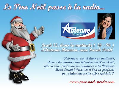 Sarah Patel parle du Père Noël à la Réunion sur Antenne Réunion