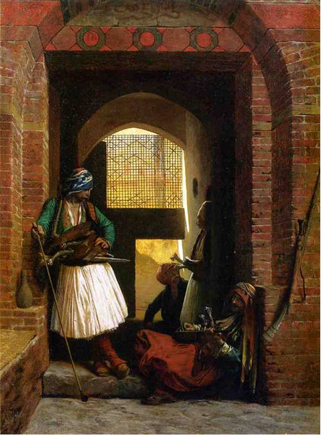 Arnaut Guards in Cairo 1861