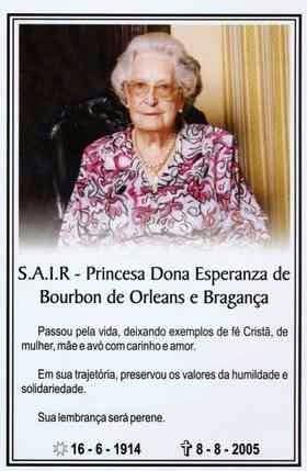Esperanza de Borbón-Dos Sicilias y Orleans 1914-2005