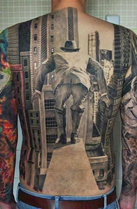 tattoo paisagem prédios
