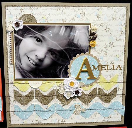 "Scrapbook Page ""Amelia"""