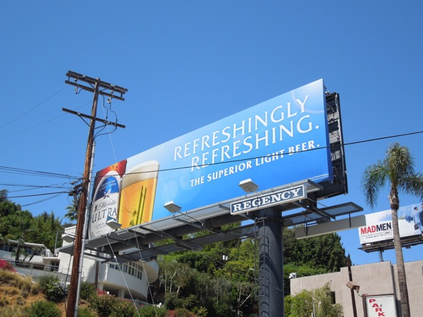 Michelob Ultra Refreshingly Refreshing billboard