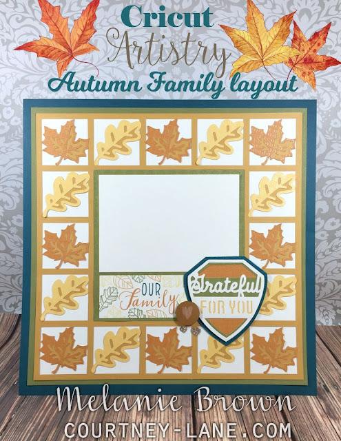 Cricut Artistry Autumn Family layout