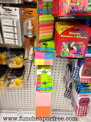 What Caught My Eye Here Were The Calculators And Sticky Notes 1 For A Pack Of 6 Mini Sticky Pads Is A Great Deal And Really Who Doesnt Need More Sticky