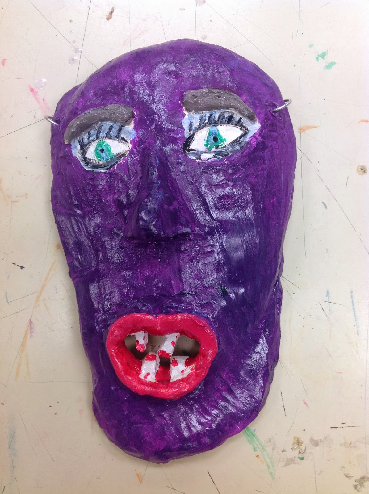 Sixth Grade Clay Mask Art Lesson