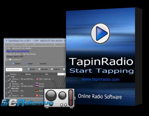 Tapin radio умеет записывать музыку в mp3-файлы