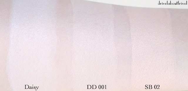 foundation swatch yaby daisy dainty doll 001 illamasqua skin base 02