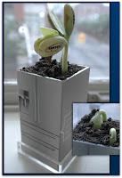Живая реклама холодильников Samsung на ростках растений