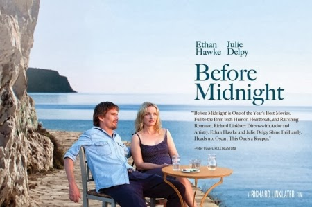 BEFORE MIDNIGHT, nominated for an Academy Award for Best Adapted Screenplay