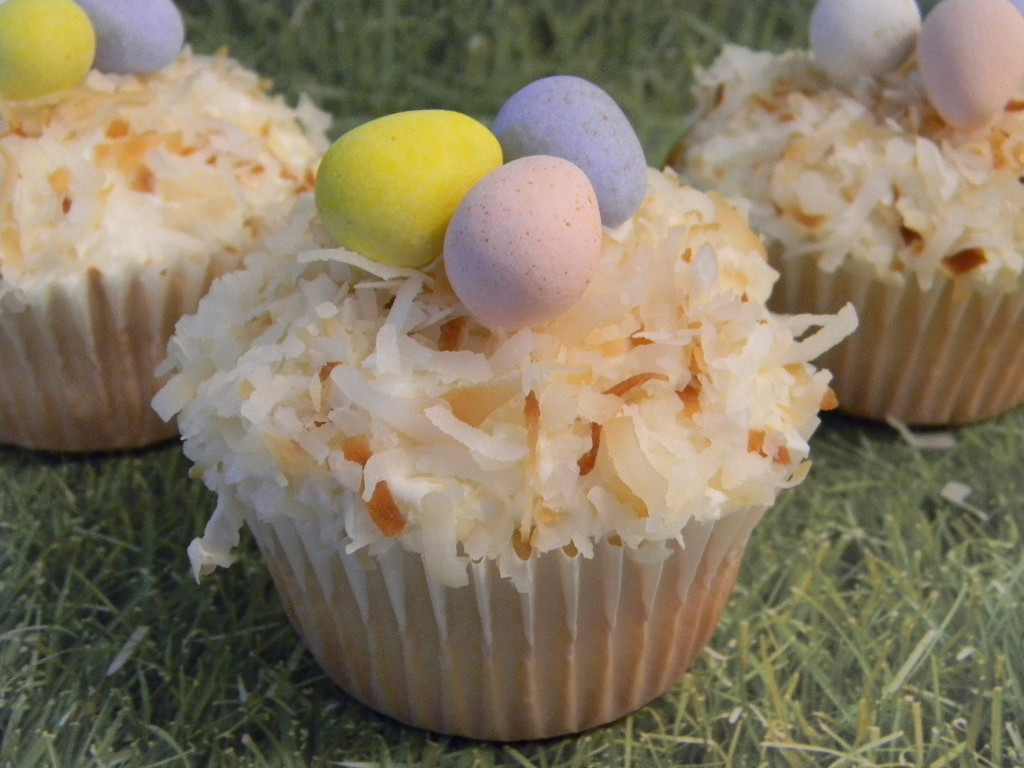 Brandy's Creations: Toasted Coconut Bird's Nest Cupcakes