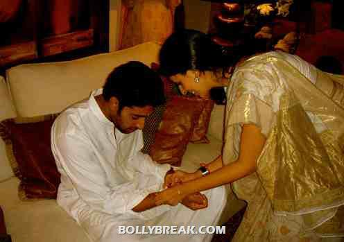 Abhishek Bachchan with his siter - Bollywood Siblings - Rakshabandhan Special